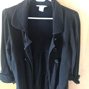 Kensie Girl - 3/4 Sleeves Black Jacket